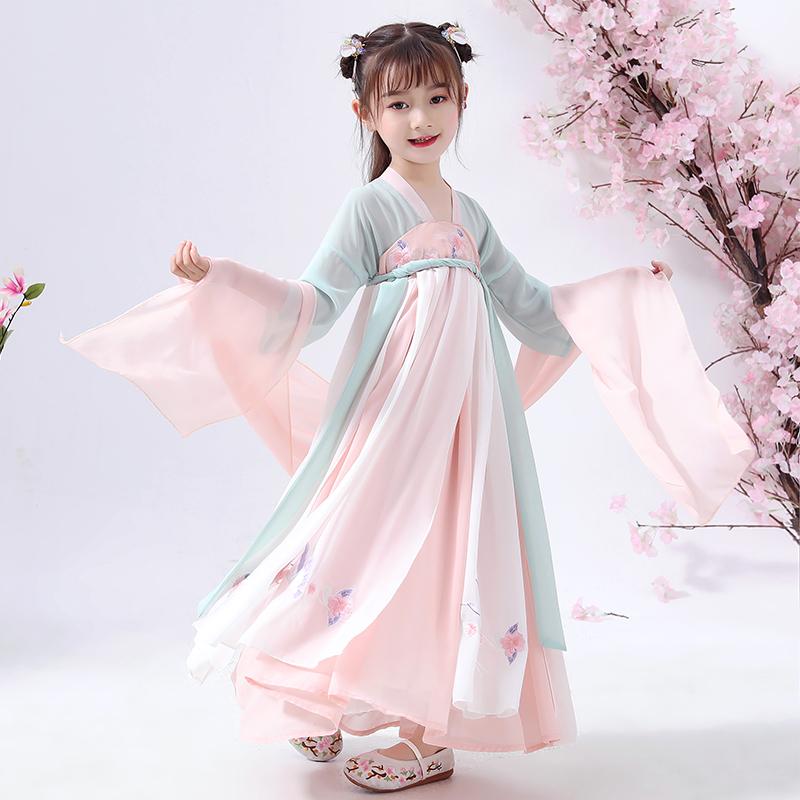 女童汉服超仙襦裙秋装小果仔原创儿童仙女演出服中国风舞台连衣裙