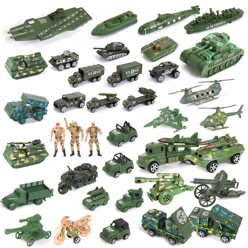 兵人专区军事模型兵人士兵打仗塑料小人玩具坦克战车航母战机大炮