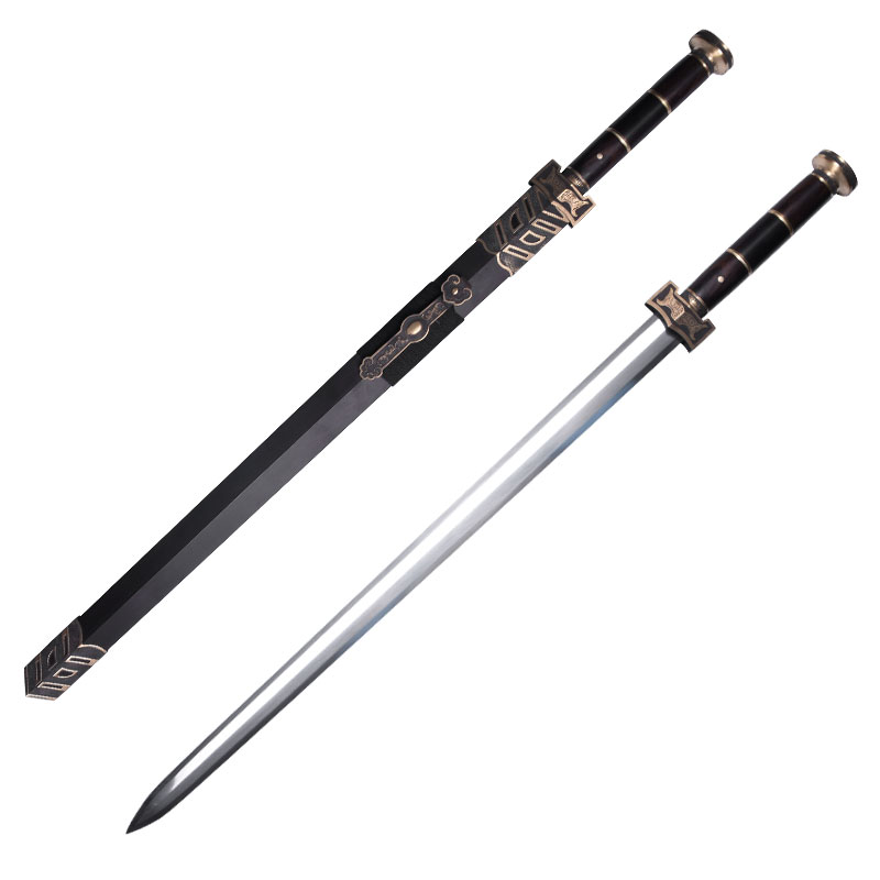 guile longquan sword shop eight han jian pattern steel surface burning blade sword ruyi sword sword integrated weapon is not edged usually