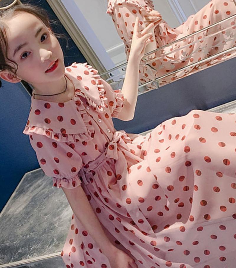 女孩装连衣裙夏季8雪纺9长裙女童10岁中童公主12夏装大童夏天裙子