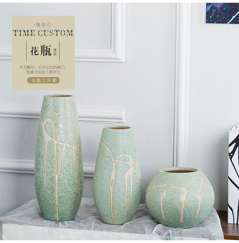 Furnishing articles of pottery and porcelain vase restoring ancient ways is the sitting room European - style household dry flower arranging flowers adornment flowers desktop porch is I and contracted