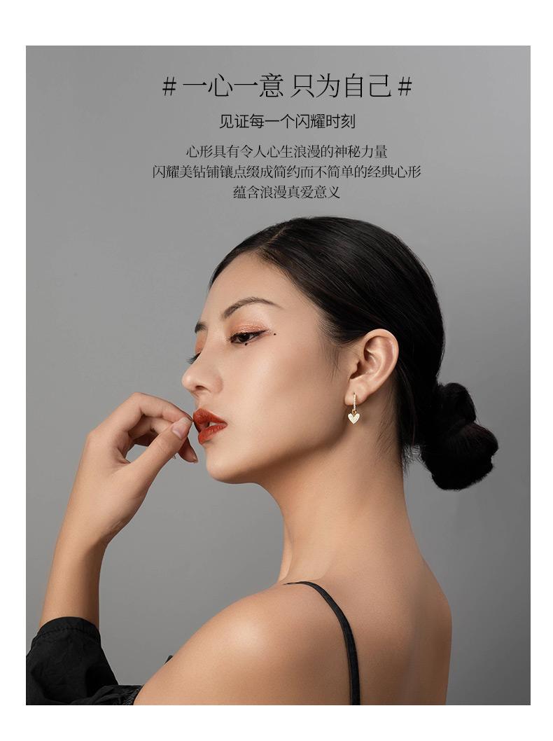 中国白银旗下 SISI 一心一意 925银 耳环 天猫优惠券折后¥59包邮(¥229-170)项链吊坠可选