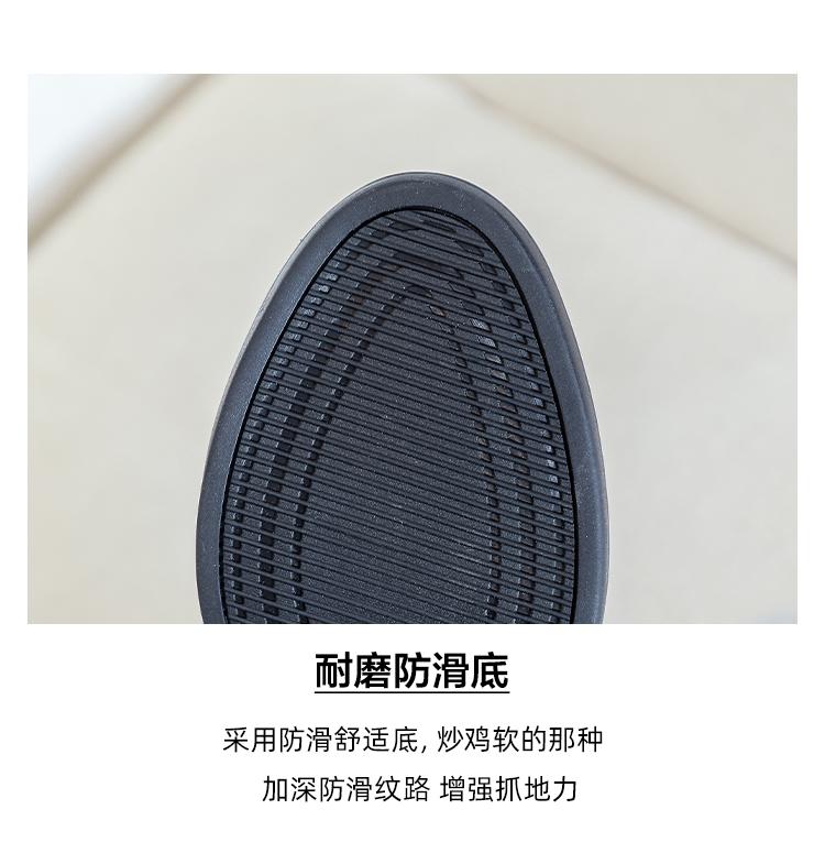 墨染·粗跟短靴女加絨新款正韓真皮馬丁靴側拉鍊圓頭瘦瘦靴中跟及踝靴子