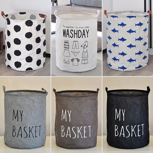Fabric waterproof storage basket bathroom balcony household change of dirty clothes basket laundry basket large toy storage bucket
