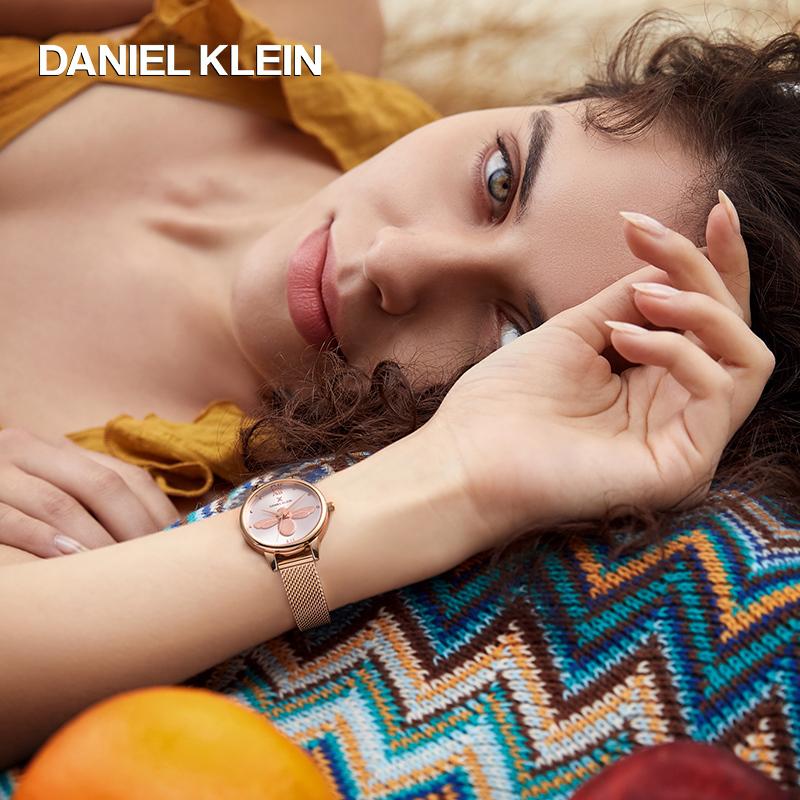 土耳其进口,商场同款:Daniel Klein 女士 3D浮雕小蜜蜂腕表