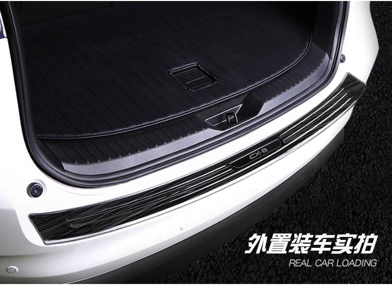 Ốp bậc chống trầy cốp đen titan  xe Mazda CX-8 2019 - ảnh 9
