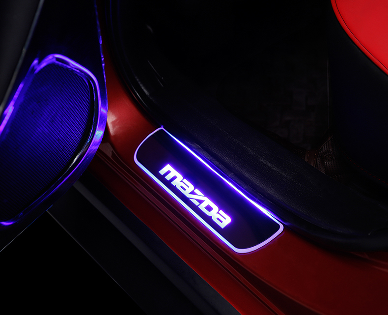 Ốp bậc cửa có đèn Led Mazda 3, 6, cx5 - ảnh 11