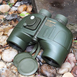 King of vision Qianlong 7X50 high magnification high-definition binoculars low-light night vision with compass ranging military navigation