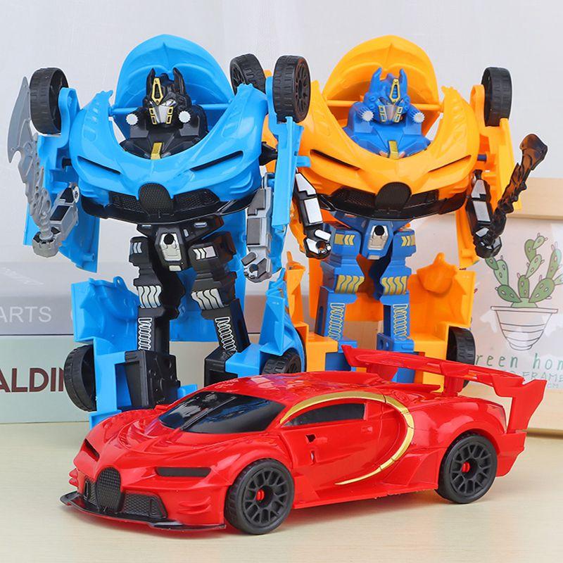 儿童惯性变形车变形金刚机器人男孩玩具