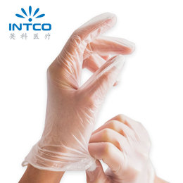 Yingke Medical disposable glove latex check anti-cross protection 9 inch 12 inch isolated PVC gloves 100