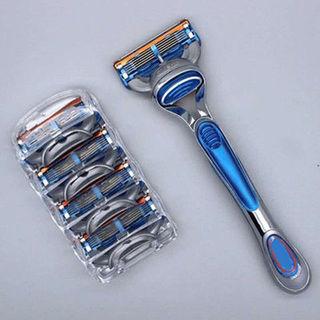 Автомобильные электробритвы,  Благоприятный вручную бритва благоприятный 5 лезвие мужской царапина ху нож пять лезвие 5 сегмент царапина ху нож сбор винограда бритье, цена 216 руб