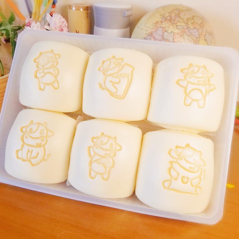 舒汇牛小白牛奶馒头手工营养包子速冻早餐儿童面点方便35g*6只装