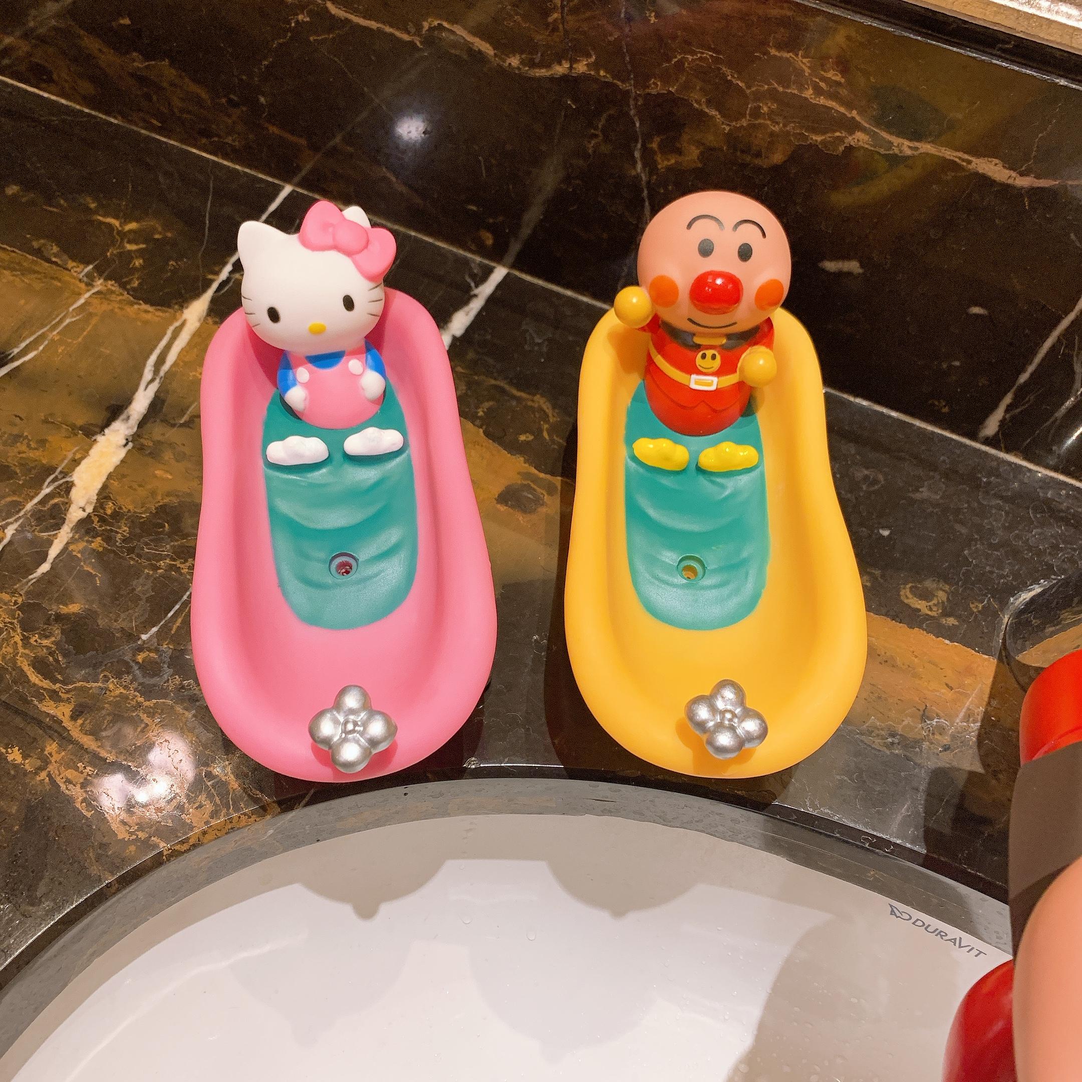 出口日单创意双层沥水肥皁盒儿童卡通麵包超人香皁盒浴室可爱皁碟详细照片