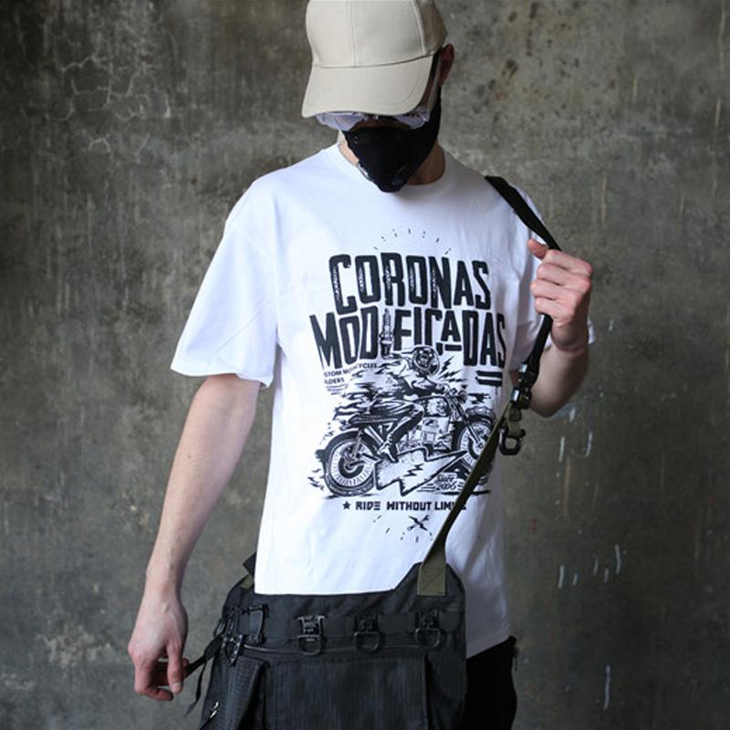 西海岸阿美咔叽复古骷髅头T恤短袖男嘻哈欧美风摇滚摩托机车朋克_天猫超市优惠券