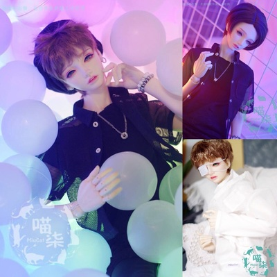 taobao agent BJD baby clothes mesh shirt jacket jacket black and white spot SD13 uncle SD17 three points MSD1/4 four points giant baby
