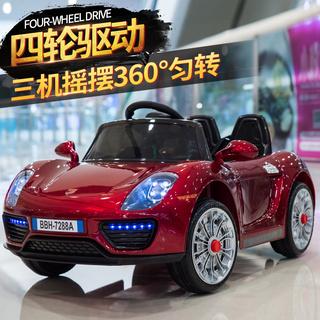 Электромобили детские,  Ребенок ребенок электромобиль четырехколесный может сидеть дистанционное управление автомобиль 1-3 лет 4-5 качели дети может сидеть украшения сокровище игрушка автомобиль, цена 3403 руб