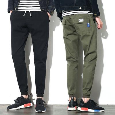 Men's pants winter 2017 new spring Slim feet Korean fashion students wild beam pants pants