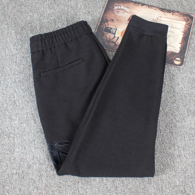 Cut the standard cattle foreign trade factory men 's winter casual thick men' s self - cultivation feet feet pants sports pants trousers