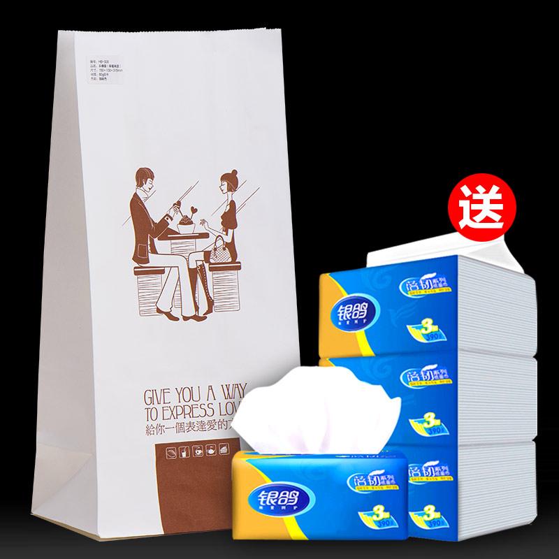 纸袋样品+送银鸽抽纸3包