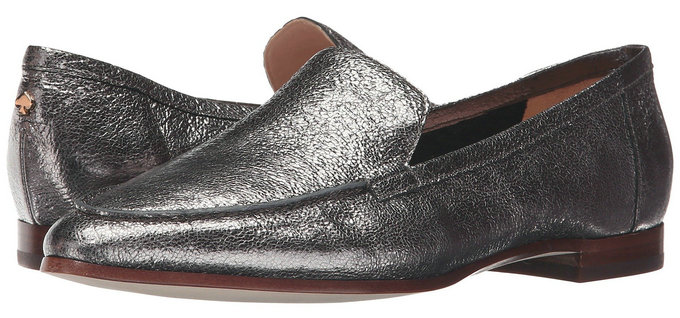 美国代购KateSpade时尚女鞋头层牛皮舒适平底真皮单鞋内衬休闲鞋