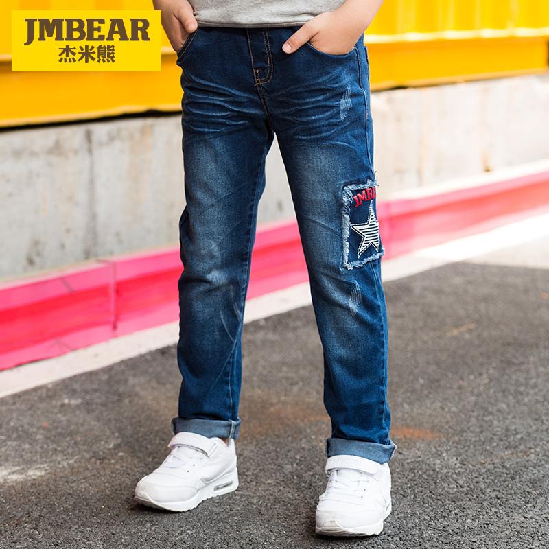 杰米熊童装男童牛仔裤