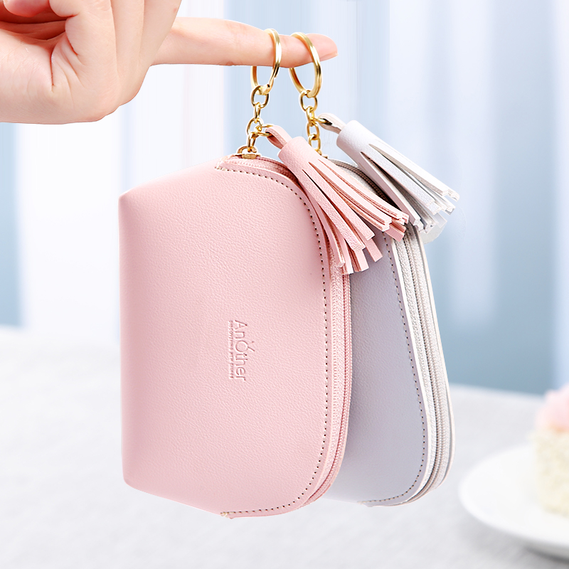 252eca7487c8 Girl heart ins small purse short paragraph cute students Korean literary  Sen Department coin package simple 2019 New