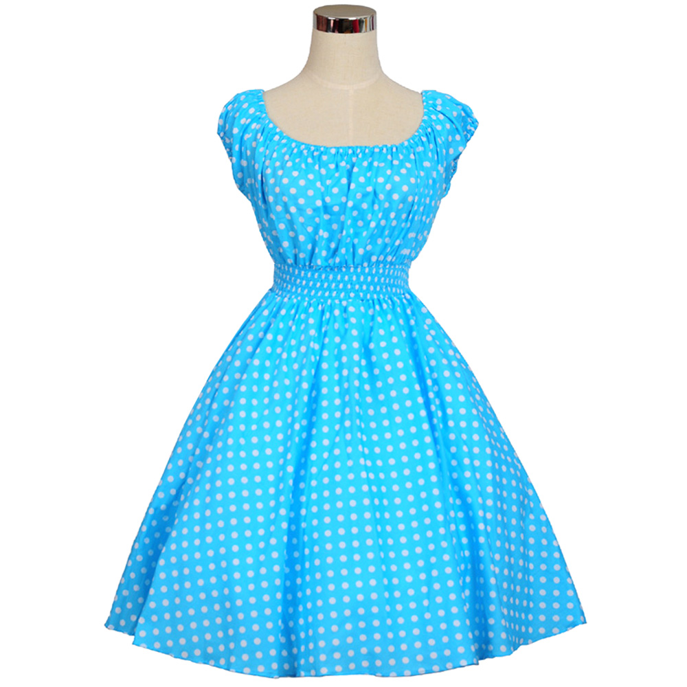 Vintage Wedding Dresses 50s 60s: Rockabilly Swing Jive Floral Dots