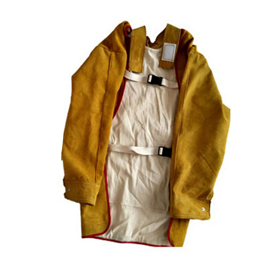 """47.2/"""" Long Leather Welding Apron Heat Insulation Protection Gear Safety Clothes"""