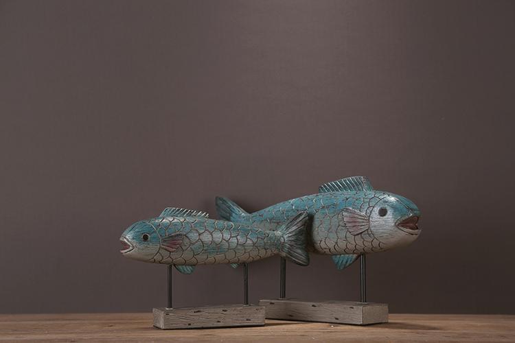 〖洋碼頭〗美式北歐家居裝飾品擺件支架舊魚客廳酒櫃軟裝飾品樣板間擺件擺設 ysh258