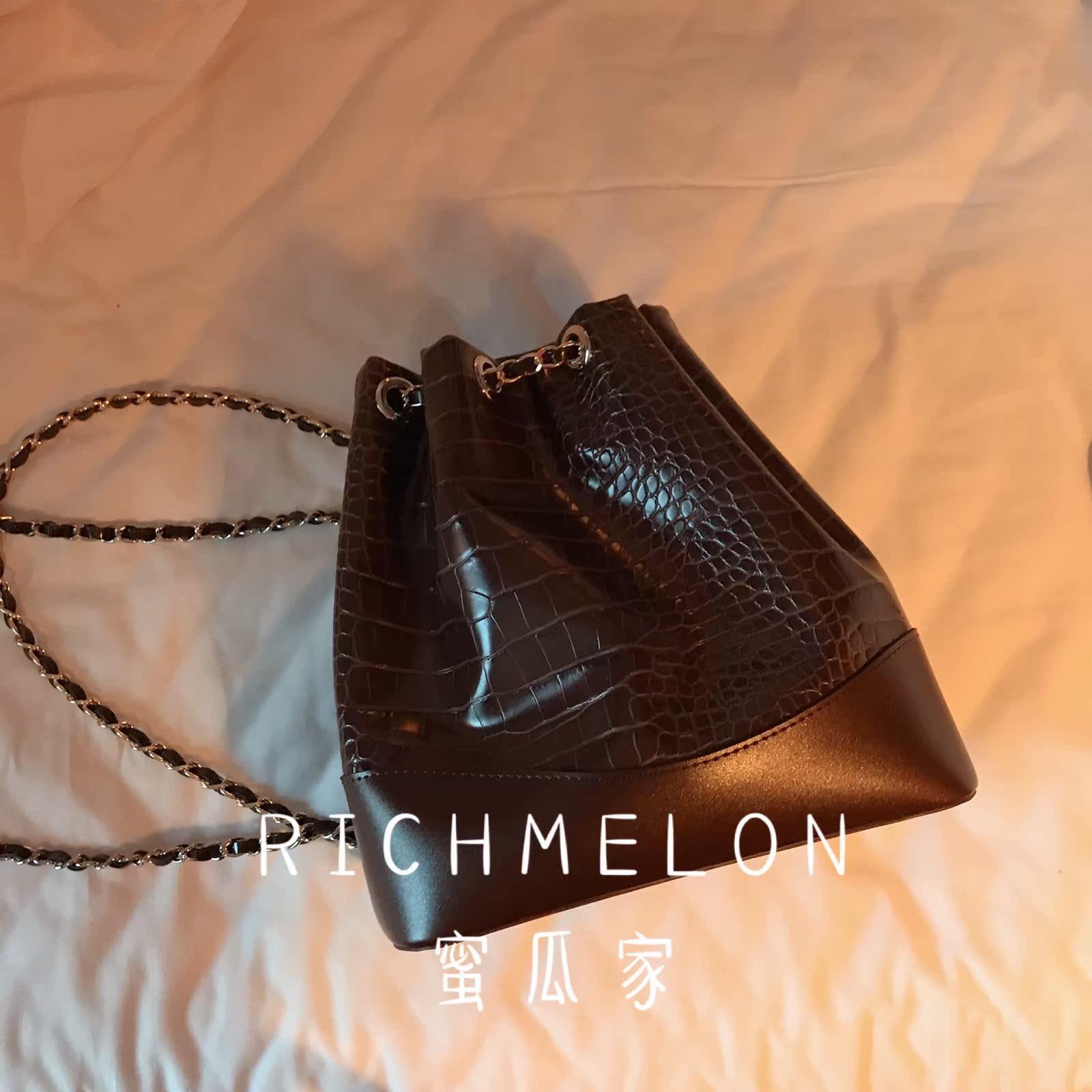 RICHMELON 韩国东大门代购正品 新款包包小香风双肩包链条女包