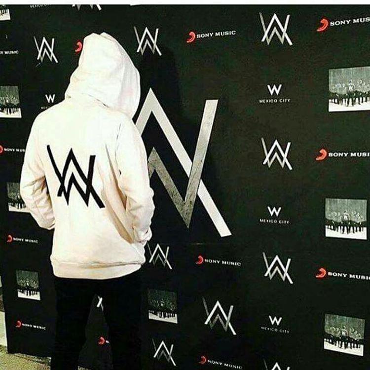 Điện DJ Allen Walker Alan walker buổi hòa nhạc với cùng một đoạn đã bị mờ mùa xuân trùm đầu áo mỏng phần