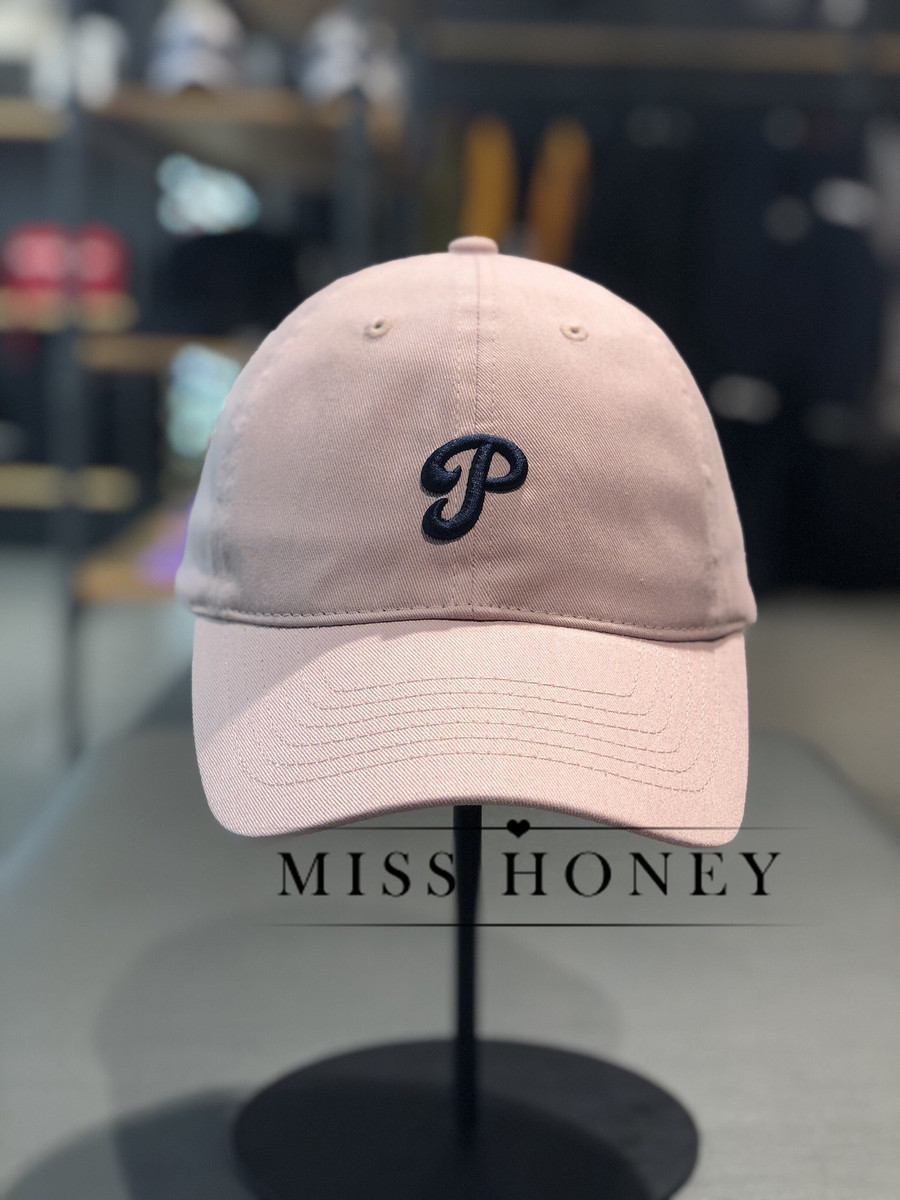 South Korea mlb counters authentic 2019 new spring pink P soft top baseball  cap wild men and women with the same paragraph