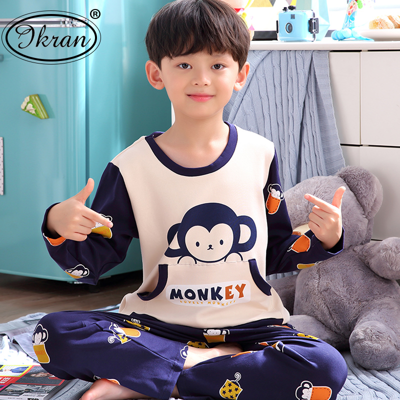 6a2c25d3f1 USD 42.25  Children s pajamas boys cartoon spring and autumn boys ...