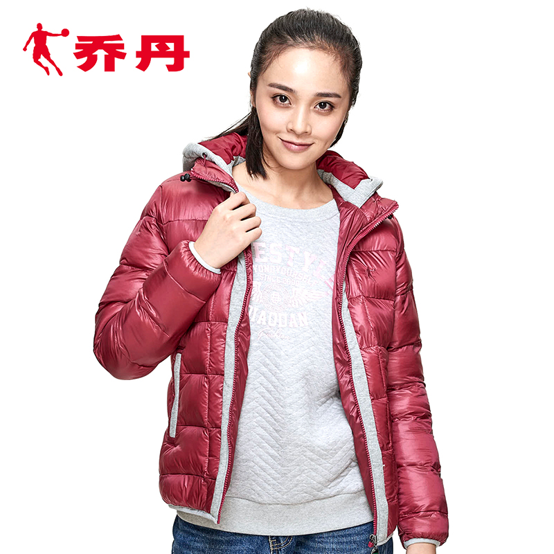 Jordan clothing women s Sportswear Women s winter warm wind hooded jacket  short paragraph cotton Winter new 0ac63430bf