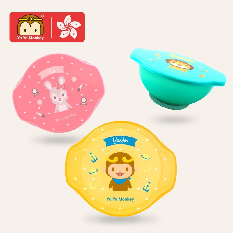 香港优优马骝 双层保温碗内碗套装婴儿注水保温碗带盖辅食碗