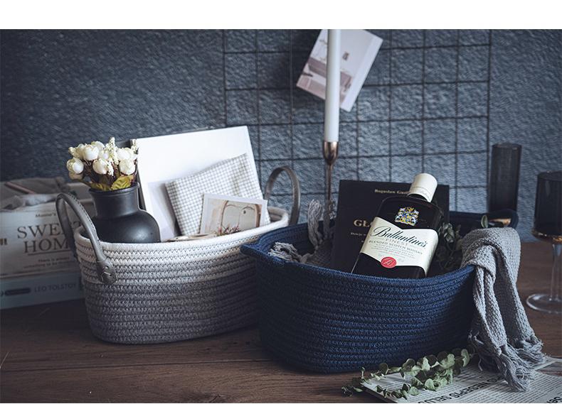 瓷魂衣服收纳筐卧室脏衣篮家用装放衣物的篮子洗衣桶娄框收纳神器