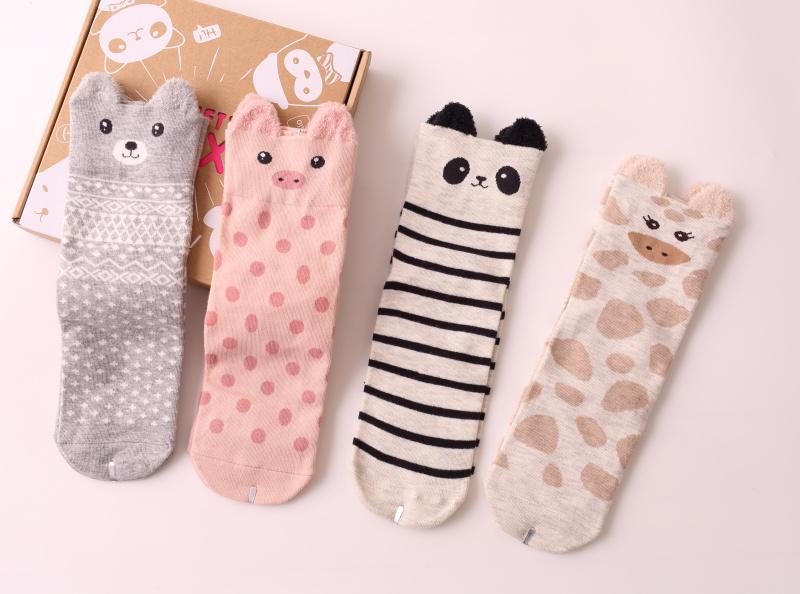 ถุงเท้าลายสัตว์น่ารัก