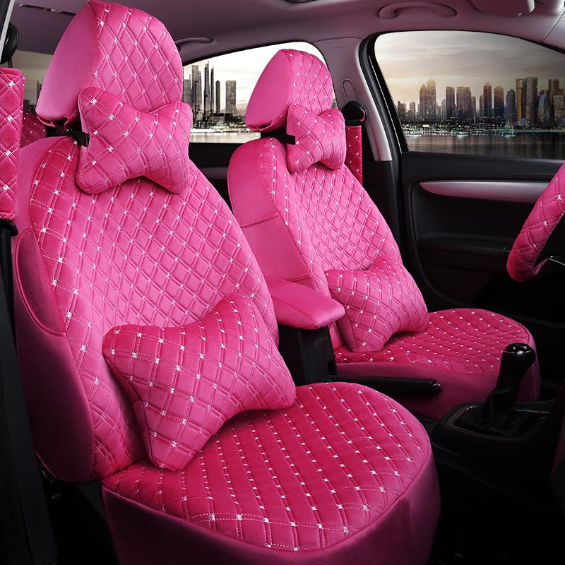 绒布可爱时尚汽车座椅女士新款全定制秋冬座套车垫套POLO坐套包围