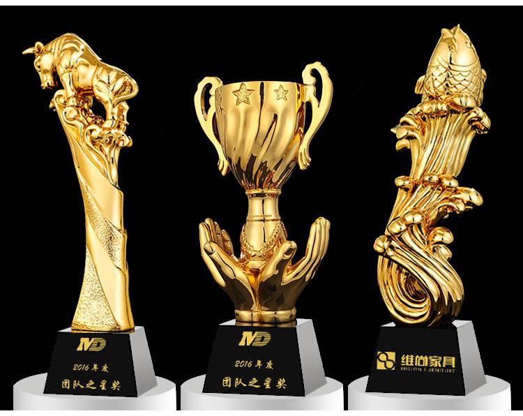 佳之禾水晶奖杯定做制刻字足球篮球比赛大拇指创意儿童志愿者奖杯