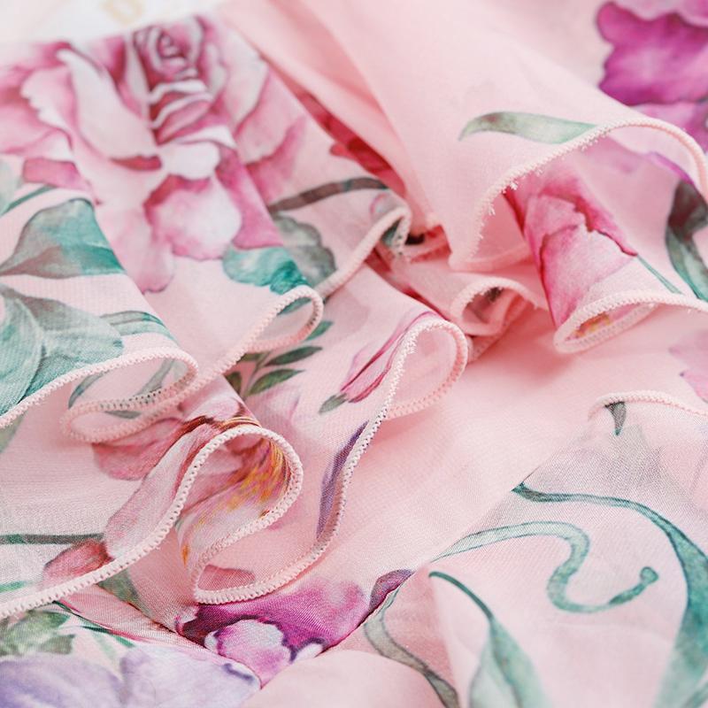 DPLAY2018 mùa hè mới Châu Âu và Hoa Kỳ Foundation in ấn dây đeo vai lá sen không thường xuyên ăn mặc