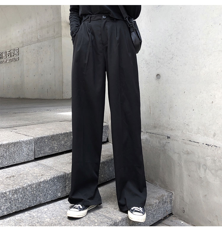 O1CN01oHkCYH1FRFqdLrt9W !!470100483 - S-L 2 colors Casual Straight Suit Pants Women High Waist Pant Office Lady wide leg Long Trousers womens (X580)