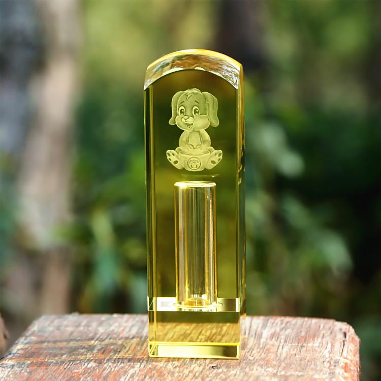Sinh sản tóc lưu niệm Hoàng đạo chó bé con dấu tóc tự làm tinh thể tự khắc khắc rốn chương bảo tồn - Quà lưu niệm cho bé / Sản phẩm cá nhân