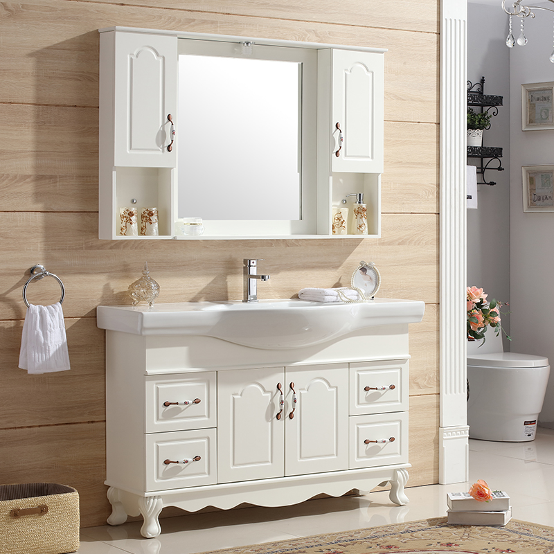European Oak Bathroom Cabinet
