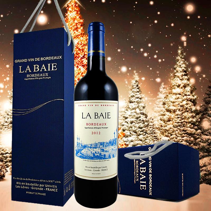 2012红酒法国波尔多bordea红葡萄酒AOP原瓶v红酒年份单支礼盒装