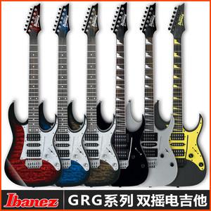 正品IBANEZ GRG150系列电吉他套装依班娜170双摇电吉他专业24品