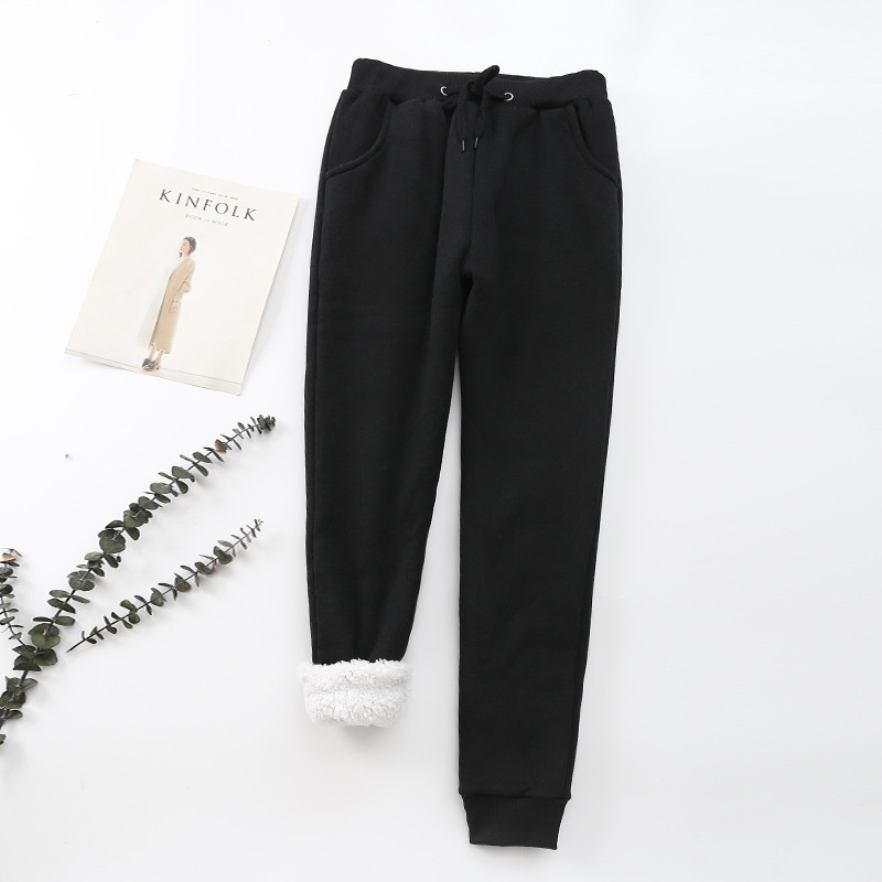 Winter Cashmere Harem Warm Pants Women 2020 Causal trousers Women Warm Thick Lambskin Cashmere Pants Women Loose Pant 21