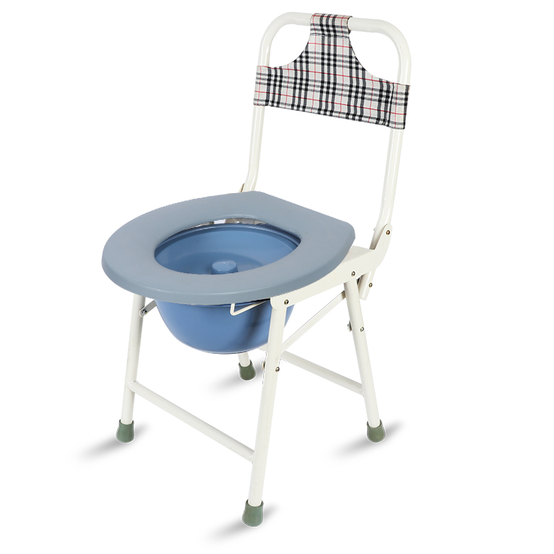 Peachy Thickened Steel Elderly Seated Chair Folding Toilet Mobile Pabps2019 Chair Design Images Pabps2019Com