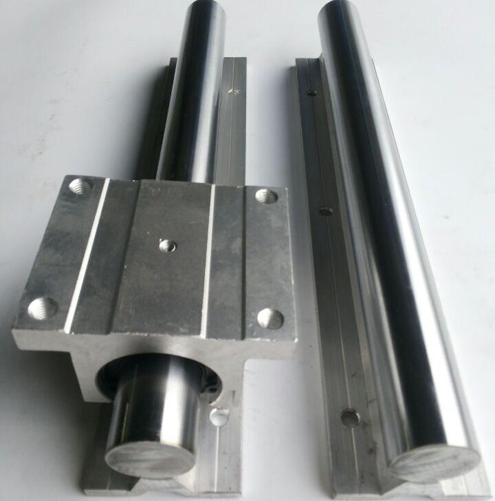 铝托支撑滑轨圆柱铝合金直线光轴导轨滑块加长TBR16/20/25/30圆轨(图2)
