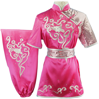 Custom size Chinese Martial Arts Clothes Kungfu Clothe Tai Chi Nanquan Changquan Adult Women's Wushu Competition Performing Colored Clothes Dressed with Silk