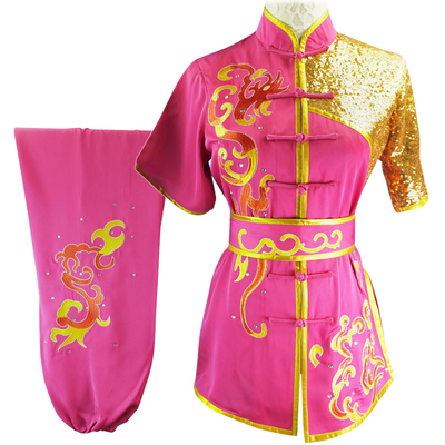 Chinese Martial Arts Clothes Kungfu Clothe  Tai Chi Wushu Competition Performing Colorful Clothes, Embroidery,